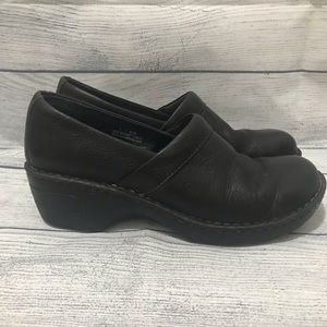 Born Toby II Leather Clogs Shoe Slip On (0400)
